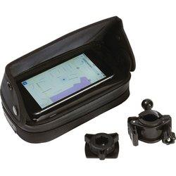BKGPH - Diamond Plate™ Adjustable, Waterproof Motorcycle/Bicycle GPS/Smart