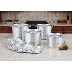 KTAL12  LaCusine™ 12pc Aluminum Steamer Stockpot Set