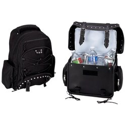 Image 0 of LUMCOOLBP     Diamond Plate™ Heavy-Duty PVC Motorcycle Cooler Bag and Back