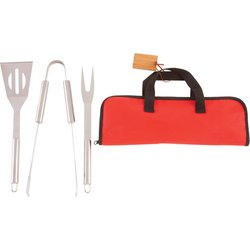 KTBQSS4B - Chefmaster™ 4pc Stainless Steel Barbeque Tool Set