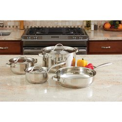 KT7 - Ever Clad™ 7pc Heavy Duty Stainless Steel Cookware Set
