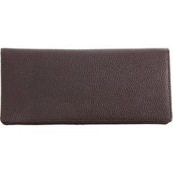 Image 0 of LULWAL26 - Embassy™ Chocolate Brown Solid Genuine Lambskin Leather Wallet