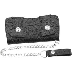 LUWALTRTL - Casual Outfitters™ Solid Genuine Leather Chain Wallet