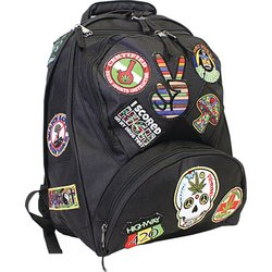 LUBPHIP - Be A Rebel™ 17'' Hippie Backpack with 15 Patches