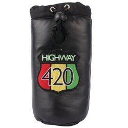 Image 0 of LULPIPE - Highway 420 Genuine Leather Pipe Storage Bag