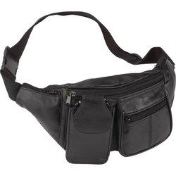 Image 0 of LUWAIST3 - Embassy™ Solid Genuine Lambskin Leather 6-Pocket Waist Bag