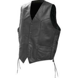 BKVSLB - Rocky Mountain Hides™ Solid Genuine Buffalo Leather Vest
