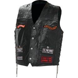 GFV16 - Diamond Plate™ Rock Design Genuine Buffalo Leather Concealed Car