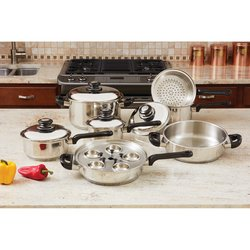 KT172 - 17pc Stainless Steel Cookware Set