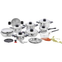 KT928 - Chef's Secret® 28pc 12-Element T304 Stainless Steel ''Waterless'' Co