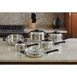 KT17ULTRA- World's Finest- 7 ply Steam Control Waterless Cookware Set