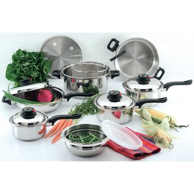 KT915- Chef's Secret- 15pc. 9 Element Stainless Steel Cookware