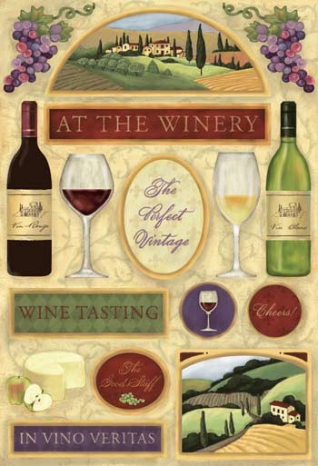 Thumbnail of Karen Foster Scrapbook Cardstock Stickers Winery Wine Stickers