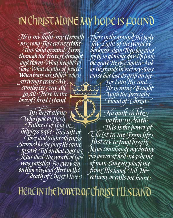 Hymn by Keith Getty & Stuart Townend - Calligraphy by Timothy R. Botts
