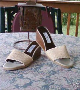ETIENNE AIGNER Sandals 9.5 M Slides WEDGES :  woman 9 and half nwob classictreasures