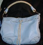 United Colors of Benetton Blue Leather Hobo Tote Bag NWOT :  new classic treasures benetton united colors of benetton