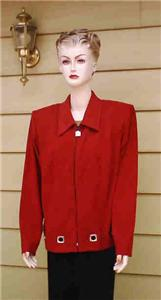 Apparel Plus - Blazer Plus Size - Positive Attitude size 18 red blazer jacket NWOT :  woman positive attitude plus women