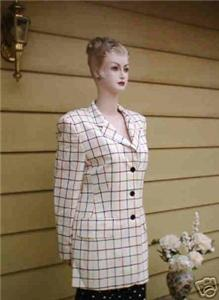 Escada Golf Checked Blazer Size 12 :  striped checked checks classic treasures