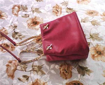 Frenchy of California Pink Genuine Glove Leather Purse Bag NWOT :  new ca classy frenchy of california