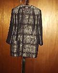 SALVATORE FERRAGAMO BROCADE BLAZER 12P :  woman festive bronze gold thread