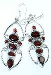 Garnet Earrings Gemstone Sterling Silver from classiquetreasures.org