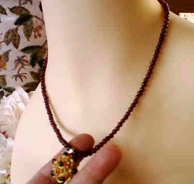 Garnet Necklace Renaissance Vermeil Clasp :  jewelry classictreasures classic treasures gemstone necklace