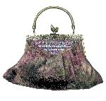Victorian Vintage Style Purse Jeweled Frame Pink :  bags twist lock purse bag classic treasues