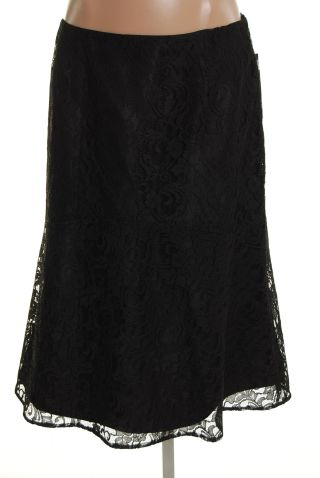 Jones New York Black Lace Skirt Size 14W Plus NWT :  woman new arrivals skirts jones new york