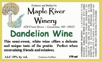 dandelion wine essay Dandelion wine was a story about a twelve-year old boy named, douglas spaulding dandelion wine took place in a small town called green town, illinois in green town the spauldings owned a.