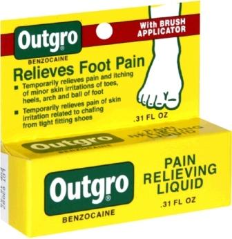 Outgro Toe Nail Pain Liquid 0.31 Oz
