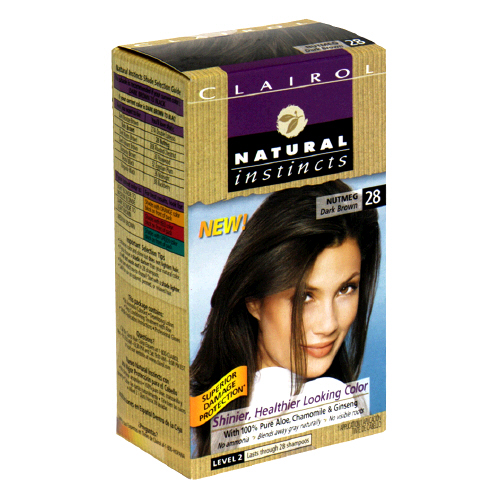 Clairol Natural Instincts 28 Nutmeg Dark Brown Hair Color