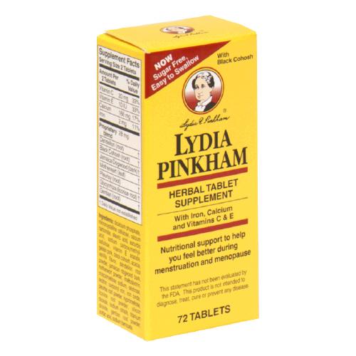 Lydia Pinkham Herbal 72 Tablet