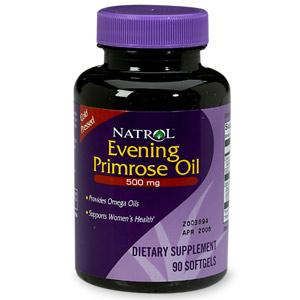 Natrol Evening Primrose Oil 500 mg Dietary Supplement Softgels 90