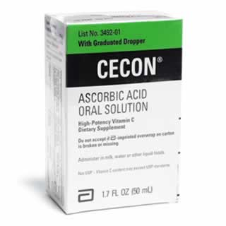 Cecon Ascorbic Acid Oral High Potency Vitamin C Dietary Supplement Solution 50ml