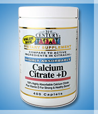 Calcium Citrate + Vitamin D Highly Absorbable Tablets 400