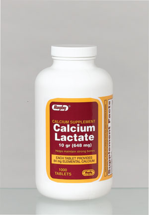 Image 0 of Calcium Lactate By Rugby Labs 10Gr Calcium Supplement Tablets 1000