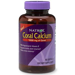 Natrol Coral Calcium With Magnesium & Vitamin D Dietary Supplement Capsules 90