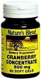 Image 0 of Natures Blend Cranberry Concentrate 500 Mg Soft Gels 60