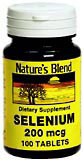 Image 0 of Natures Blend Selenium 200 Mcg Tablets 100