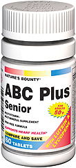 Natures Bounty Abc Plus Senior With Lutein & Lycopene Tablets 60