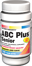 Natures Bounty Abc Plus Senior With Lutein & Lycopene Tablets 100