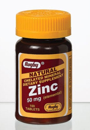 Zinc Chelated 50 Mg 100 Tablets By Major Rugby