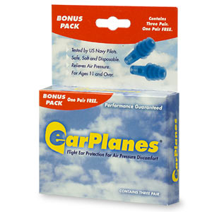 Earplanes Earplugs For Adult Flight Ear Protection 1 Pr