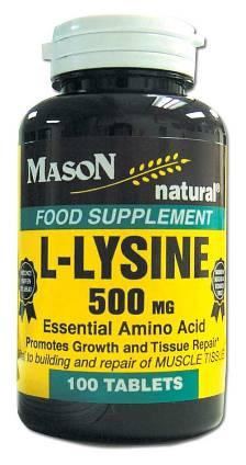 Image 0 of L-Lysine 500 mg Essential Amino Acid Food Supplement Tablets 100