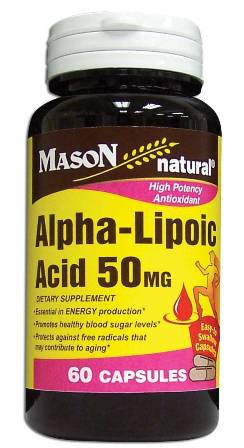 Image 0 of Alpha Lipoic Acid 50mg Dietary Supplement Capsules 60