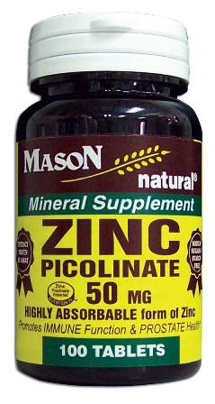 Image 0 of Zinc Picolinate 50mg Mineral Supplement Tablets 100