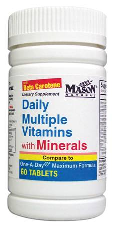 Image 0 of Daily Multiple Vitamins With Minerals Dietary Supplement Tablets 60