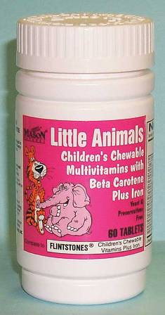 Image 0 of Little Animals + Iron Compare To Flintstones Chewable Fruit Flavors Tablets 60
