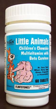 Image 0 of Little Animals Compare To Flintstones Chewable Fruit Flavors Tablets 60