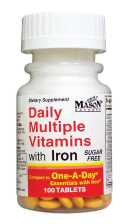 Image 0 of Daily Multiple Vitamins With Iron Sugar Free Tablets 100